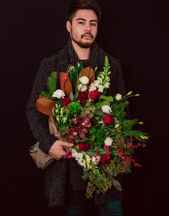 Man with Bouquet
